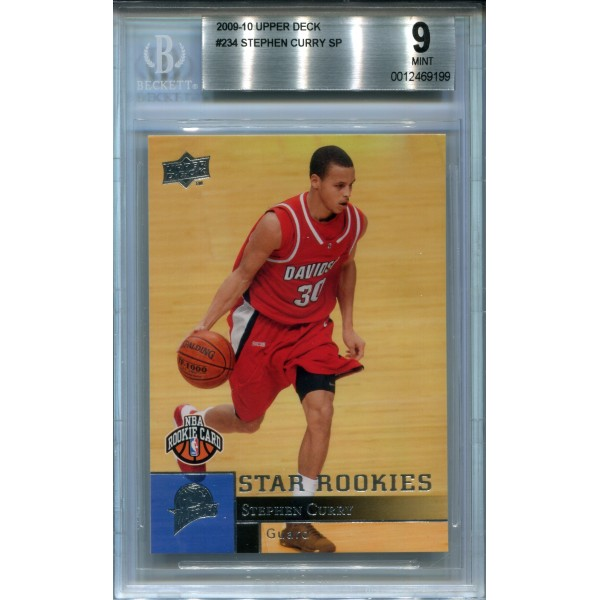 2009-10 Upper Deck #234 Stephen Curry SP RC - BGS 9