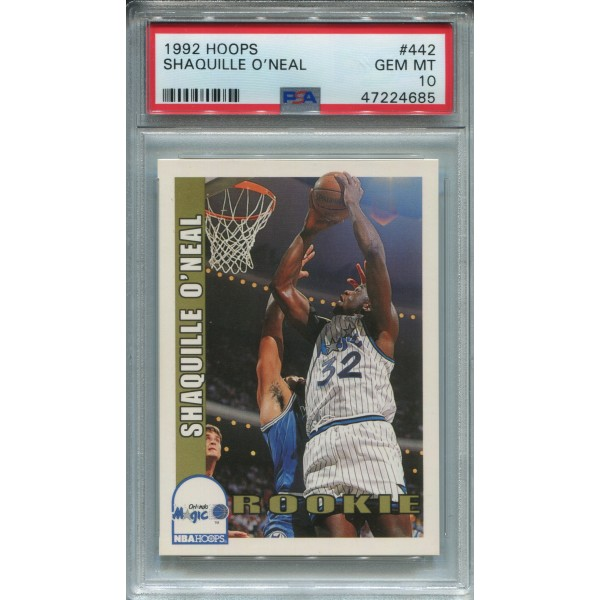 1992-93 Hoops #442 Shaquille O'Neal RC - PSA 10