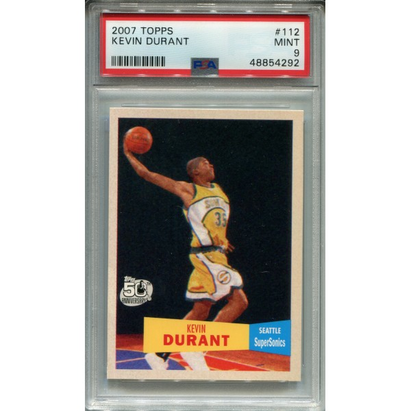 2007 Topps 112 Kevin Durant RC - PSA 9