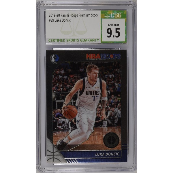 2019-20 Hoops Premium Stock Prizms Silver #39 Luka Doncic - CSG 9.5