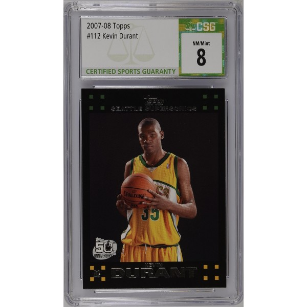 2007-08 Topps #112 Kevin Durant - CSG 8