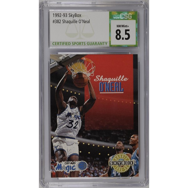 1992-93 SkyBox #382 Shaquille O'Neal RC - CSG 8.5