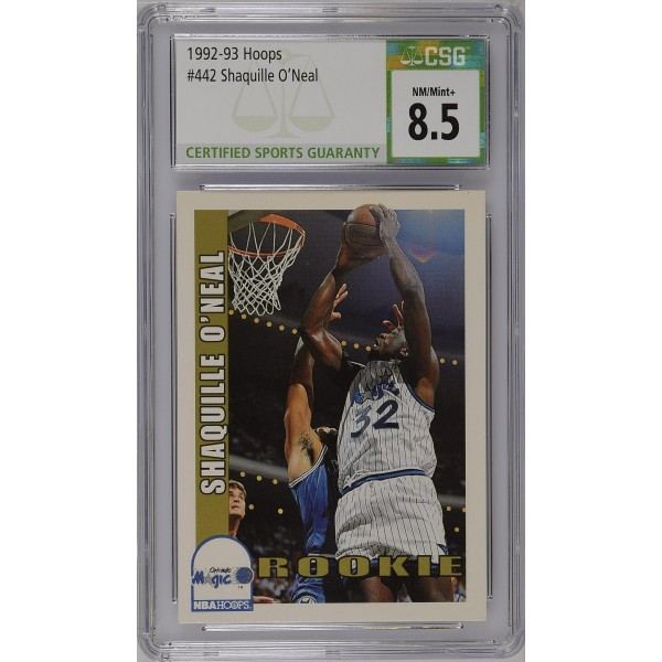 1992-93 Hoops #442 Shaquille O'Neal RC - CSG 8.5
