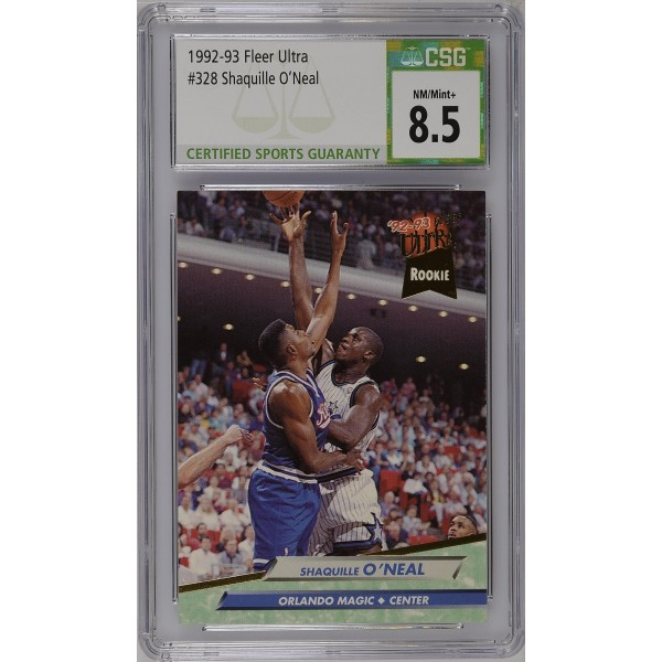 1992-93 Fleer Ultra #328 Shaquille O'Neal RC - CSG 8.5