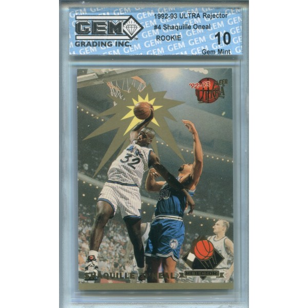 1992-93 Ultra Rejector #4 Shaquille O'Neal RC - GEM 10