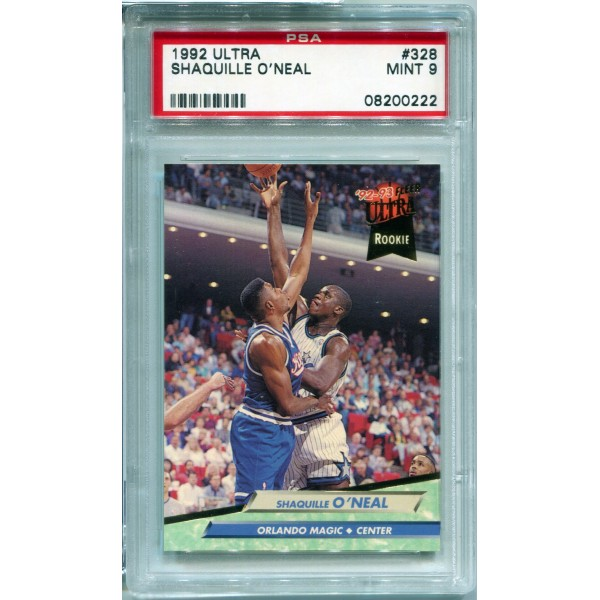 1992-93 Ultra #328 Shaquille O'Neal Rookie - BGS 9 MINT