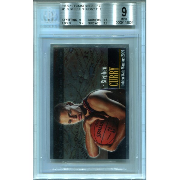 2009-10 Panini Stickers #189 Stephen Curry PTT RC - BGS 9