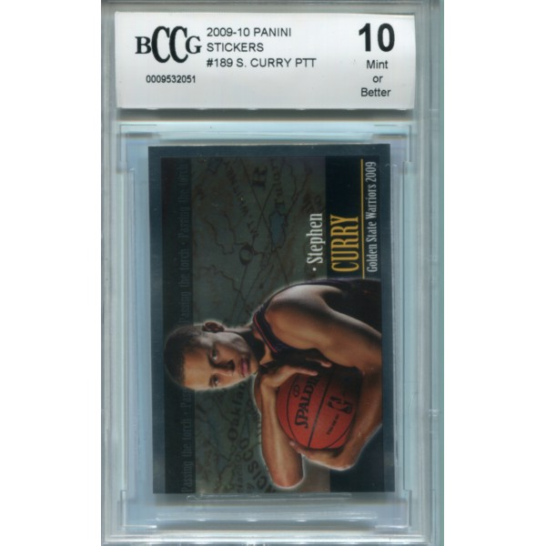 2009-10 Panini Stickers #189 Stephen Curry PTT - BCCG 10